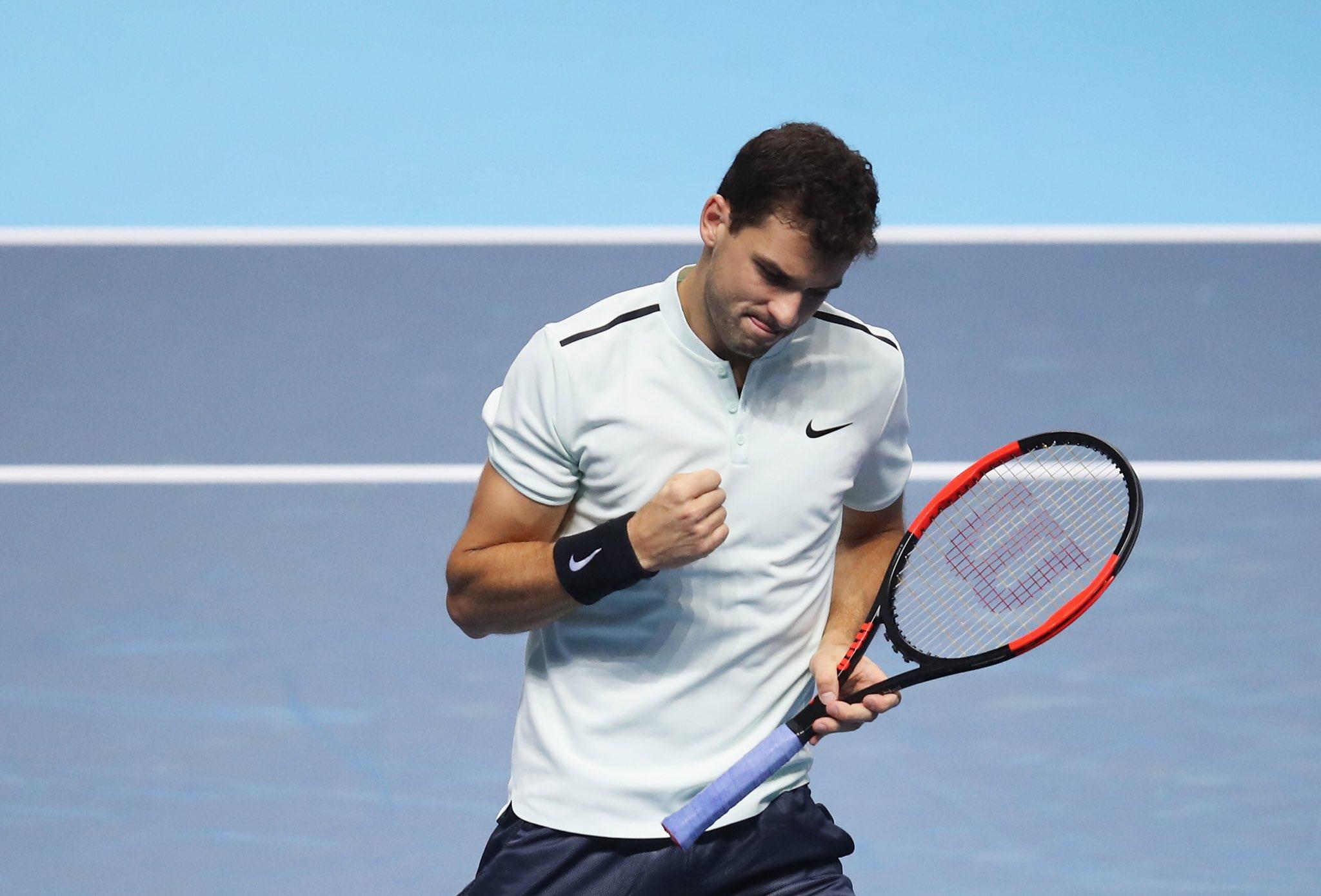 Димитров со епска победа во дебито на АТП финалето