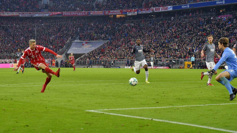 Баерн го  прегази  Аугзбург и отвори разлика од шест поени