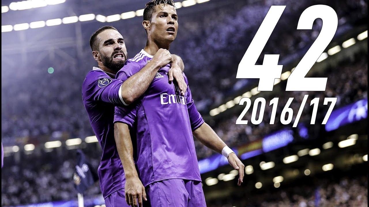 Сите 42 гола на Кристијано Роналдо во 2016 17