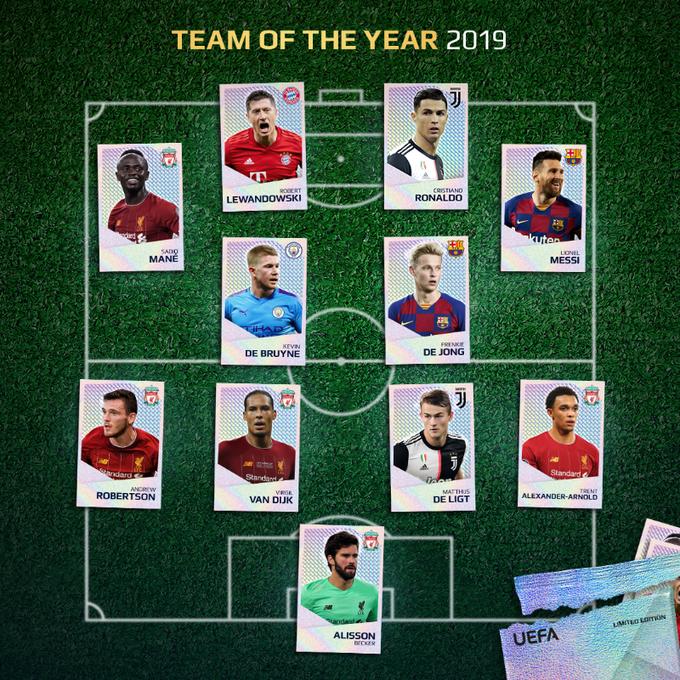 Избран најдобриот тим за 2019 според фановите на УЕФА